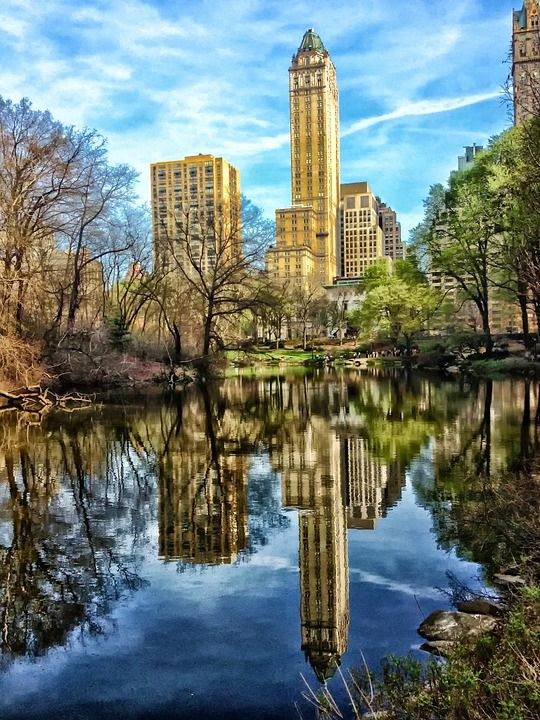 Central Park NYC lake