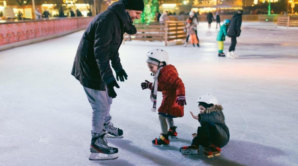 first steps in an ice skating rink